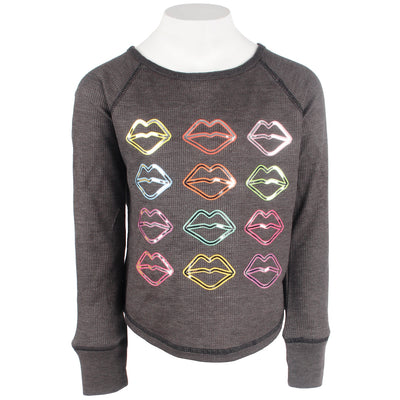 Long Sleeve Thermal with Electric Kisses