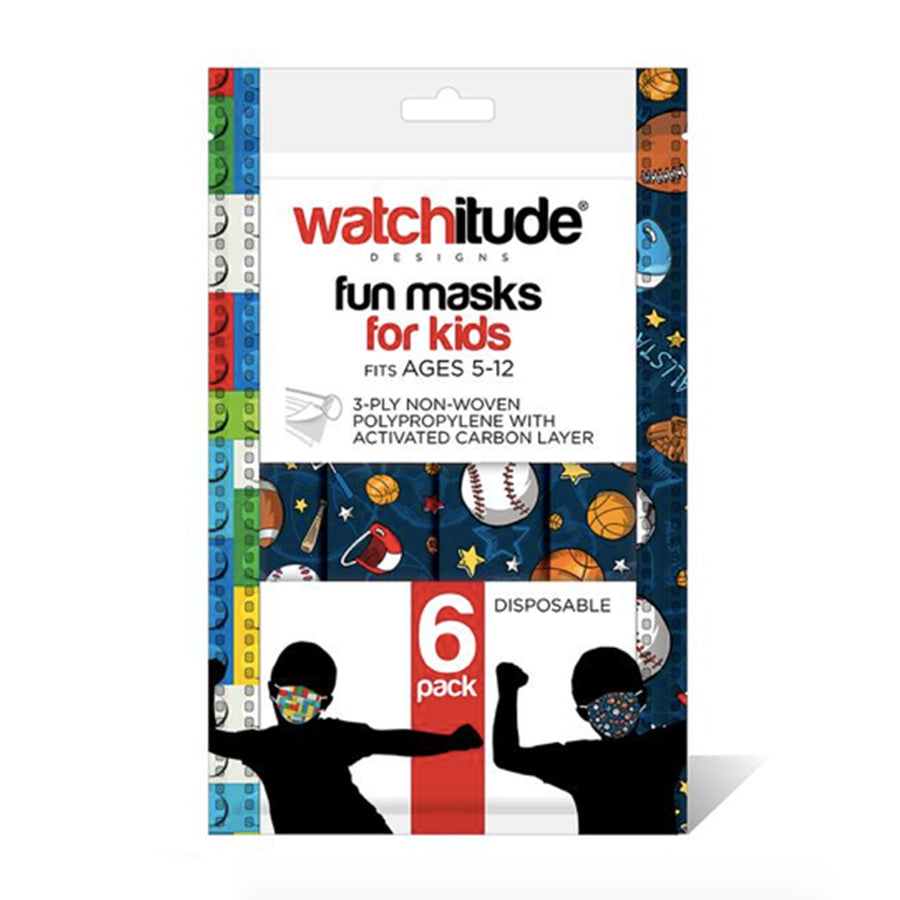 Sport and Legos 6pk Disposable Mask