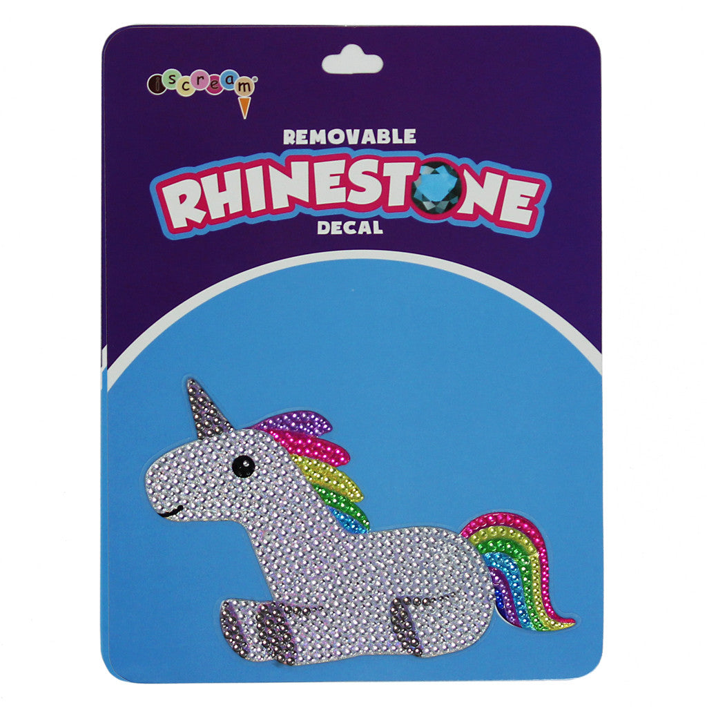 Rainbow Unicorn Rhinestone Decal
