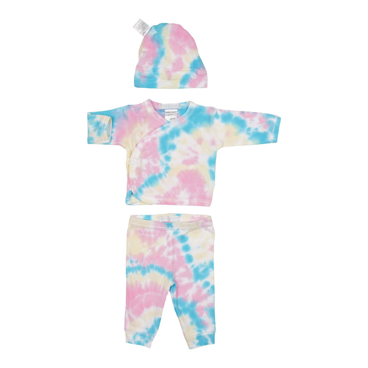 3pc Tye Dye Take Home Ella Pink/Yellow/Blue