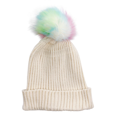 Supersoft Multi Pom Knit Cuff Hat