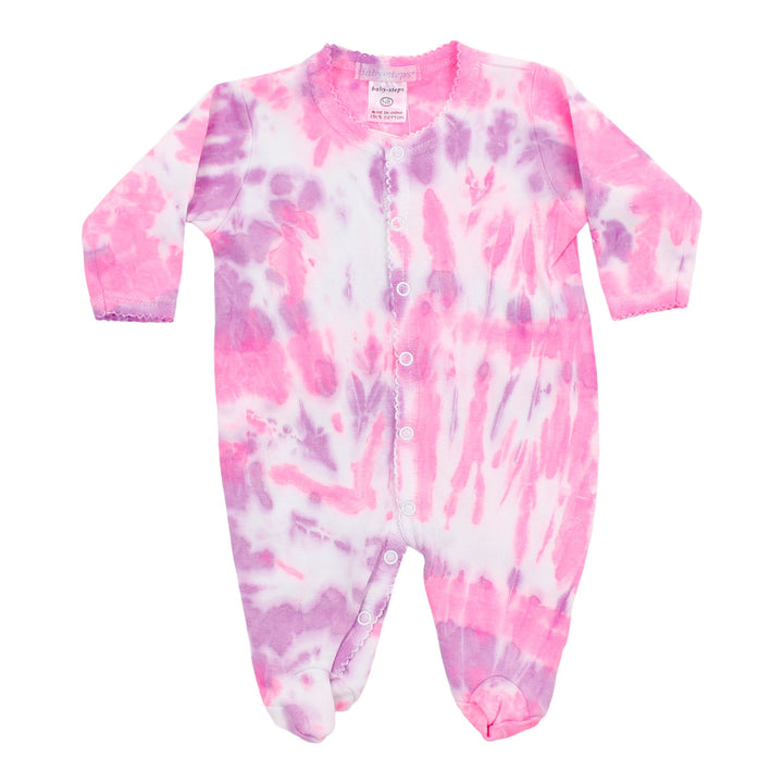 Footie Neon Pink Purple Tie Dye