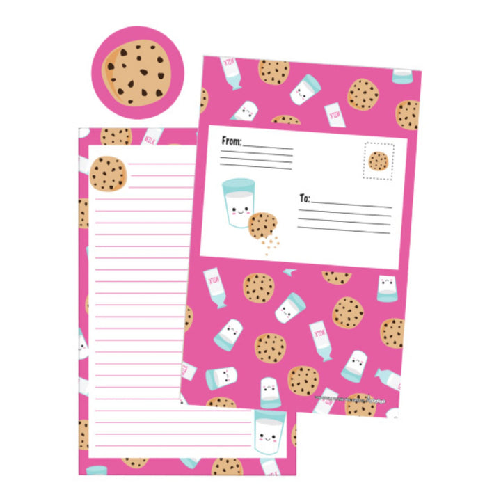 Milk n Cookies Foldover Stationary
