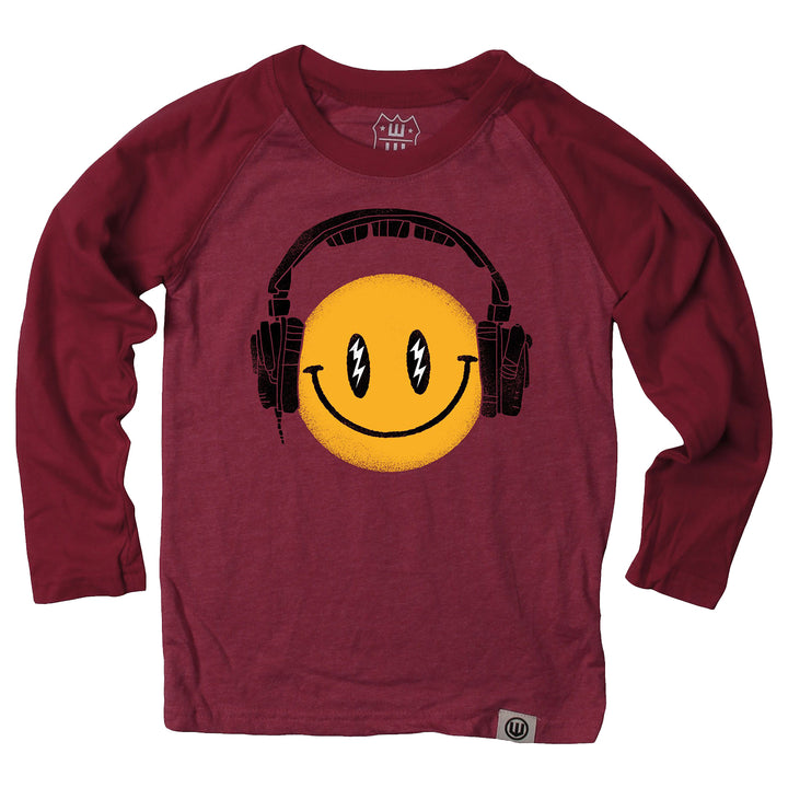 Headphone Smiley Long Sleeve Tee