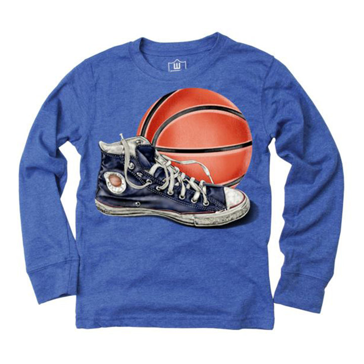 Basketball and Sneaker Long Sleeve Tee