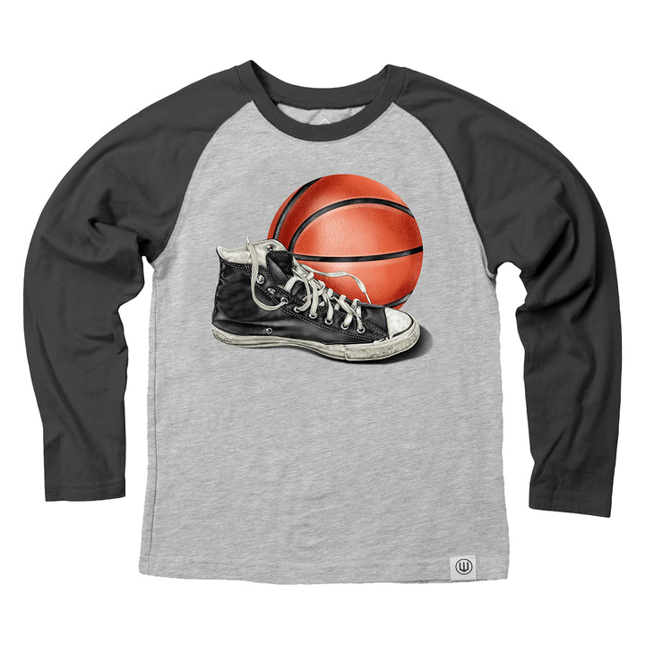 Basketball & Sneaker Long Sleee Raglan Tee