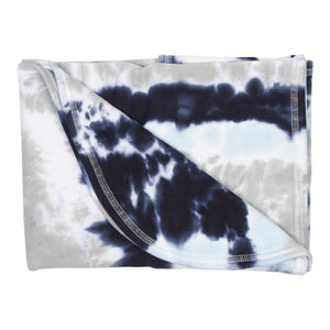 Tie Dye Judah Blanket Blue/Grey/Navy