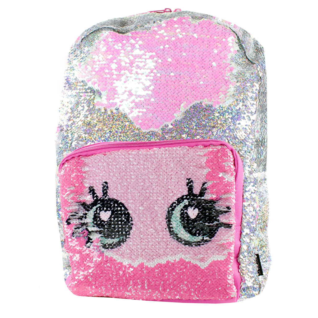 Irridescent Eyes Magic Sequin Backpack