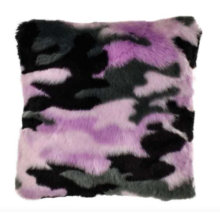 Purple Camo Pillow