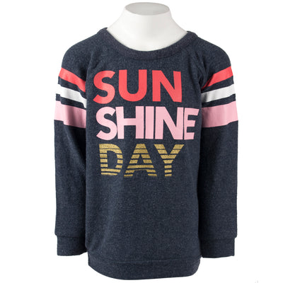 Long Sleeve Hacci Top with Sunshine Day