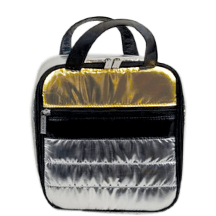 Silver & Gold Puffer Lunch Bag