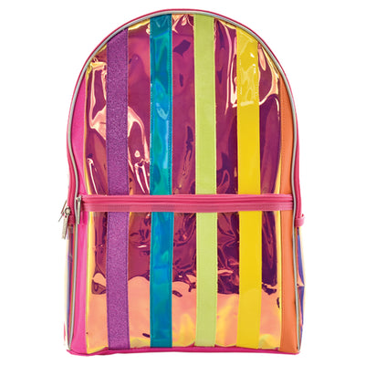 Iiridescent Striped Back Pack