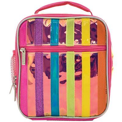 Iridescent Striped Lunch Tote