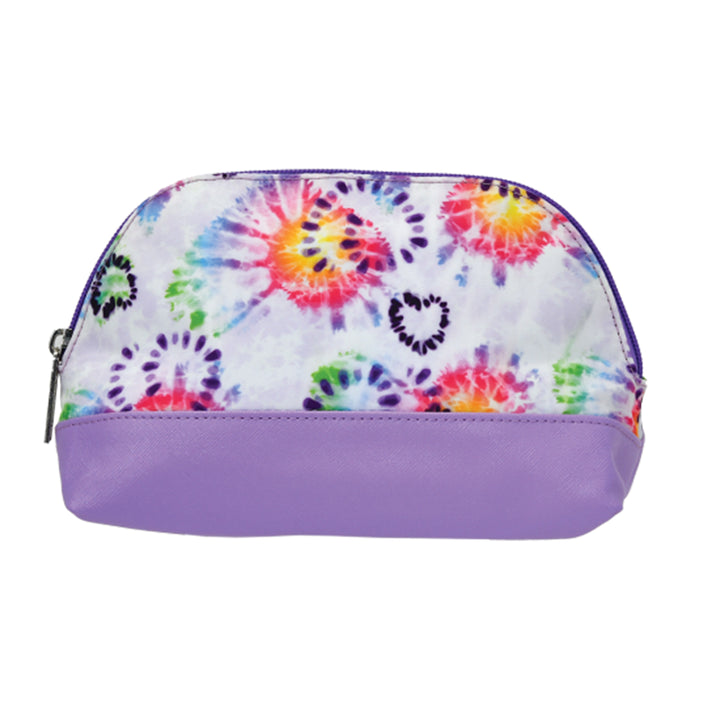Tie Dye Heart Oval Cosmetic Bag
