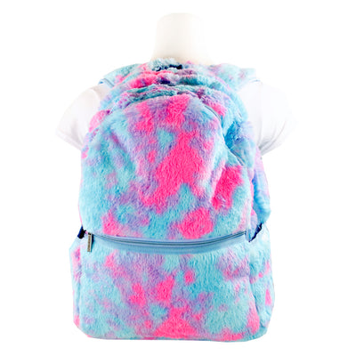 Sherbet Tie Dye Furry Backpack