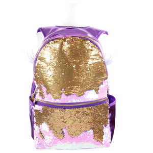 Iridescent Backpack with Reversible Sequins