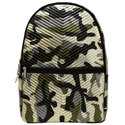 Metallic Camo Chevron Backpack