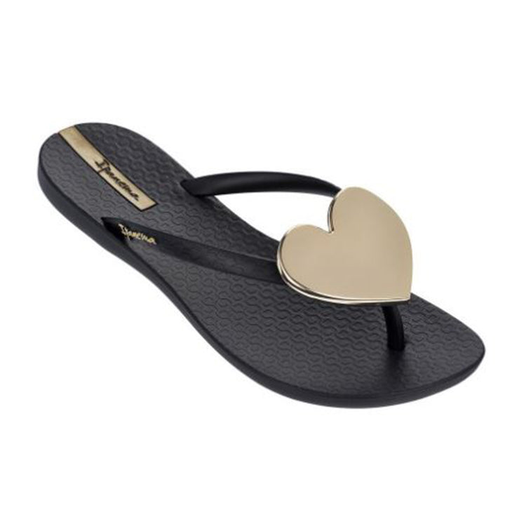 Womens Wave Heart Flip Flop