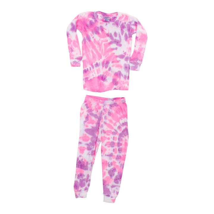 2pc PJ Neon Pink and Purple Tie Dye