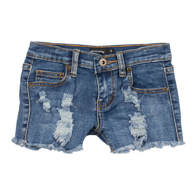 Destructed Denim Short