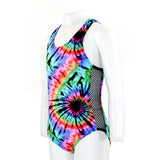 One Piece Tie Dye with Mesh Sides