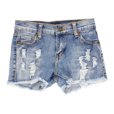 Denim Short with Destruction