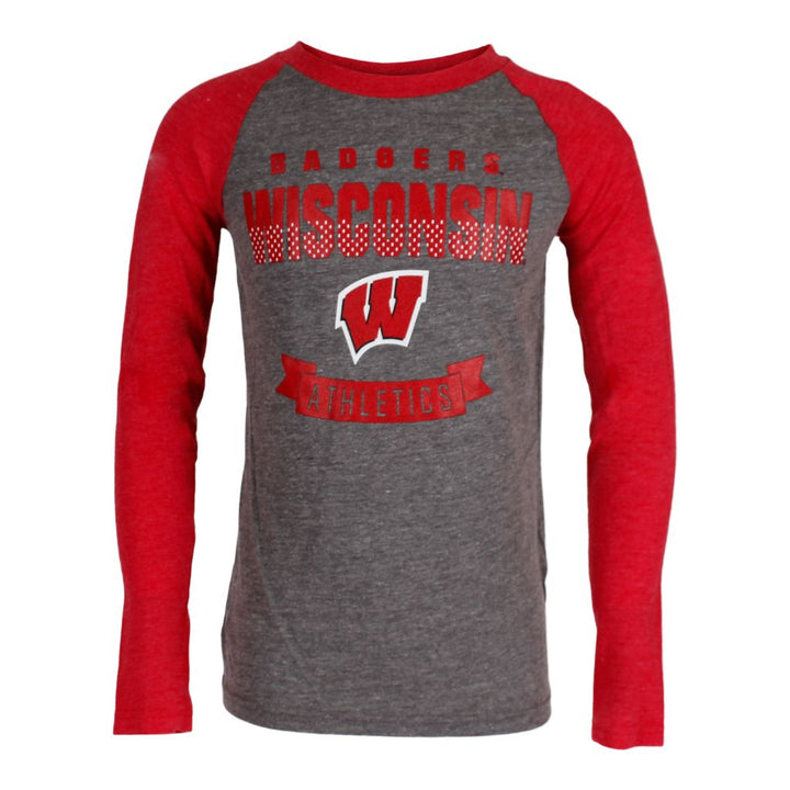 Wisconsin Equipped Triblend Raglan
