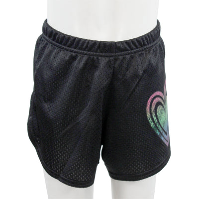 Mesh Short With Ombre Heart