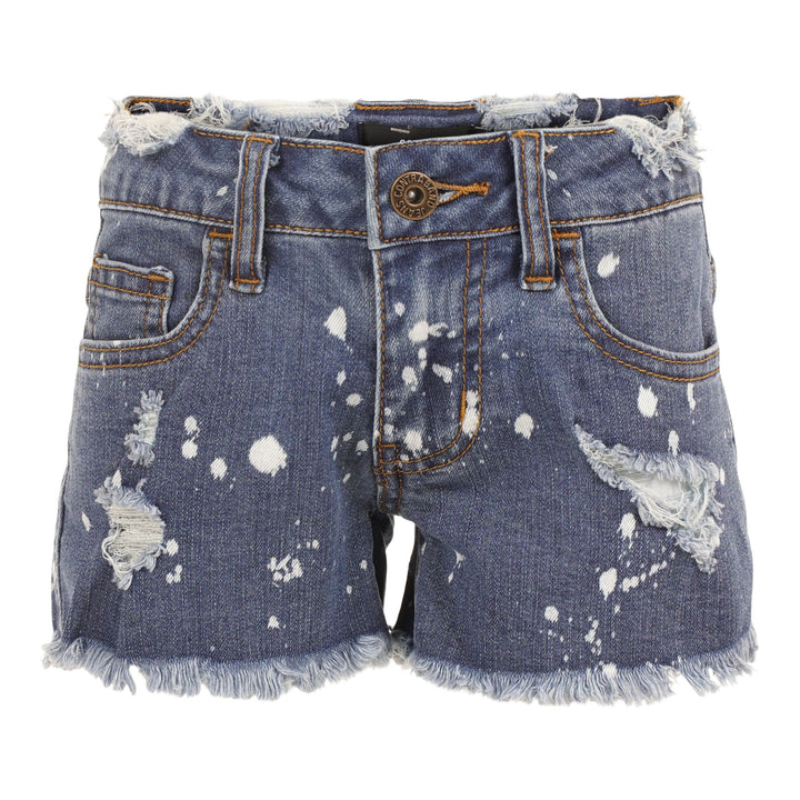 Denim Fray Short with Splatt and Destruction