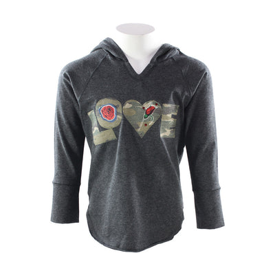 Hoody Charcoal with Love