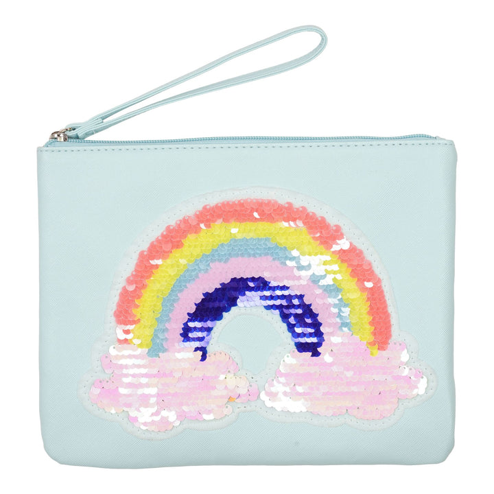 Rainbow Sequin Wristlet