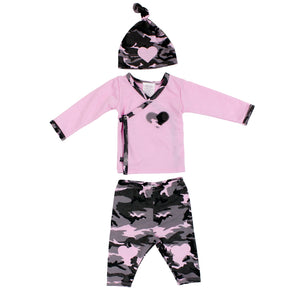 3 Piece Take Home Pink Camo