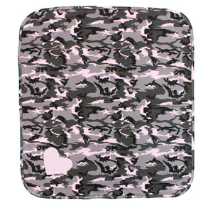 Camo Blanket with Heart