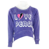 Sweatshirt w Love Bolt Peace