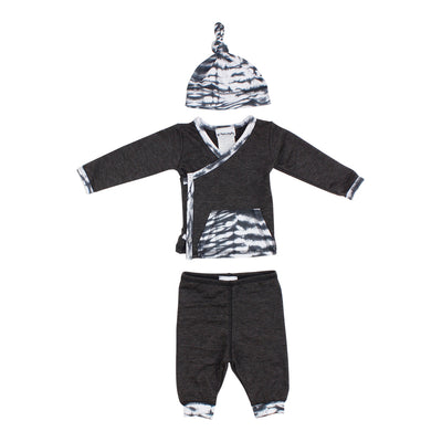 Three Piece Take Home Set Charcoal Tie Dye Pocket