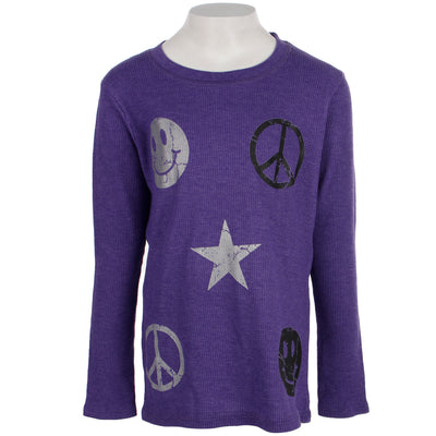 Long Sleeve Thermal with Smile Peace Star