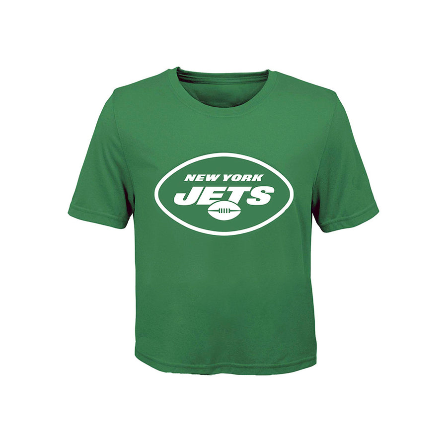 Short Sleeve Distressed Jets Logo Tee