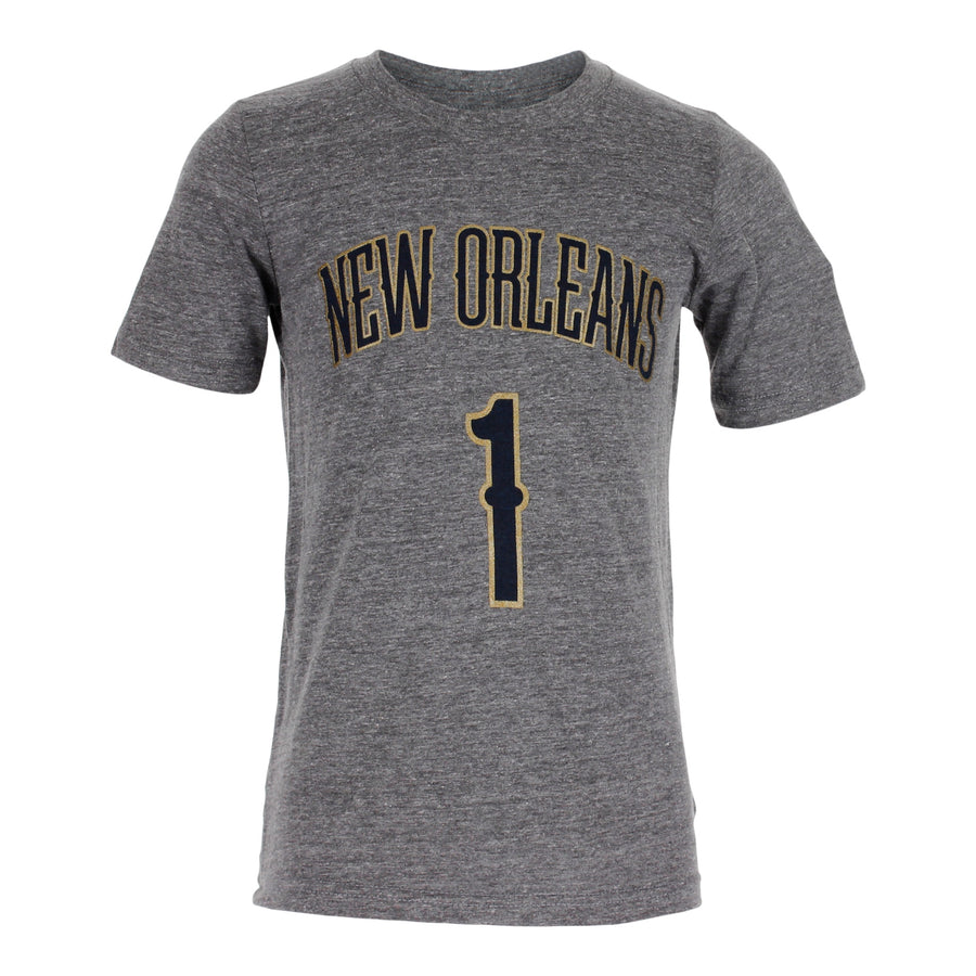 Zion Williamson New Orleans Pelicans Triblend Name Number Tee