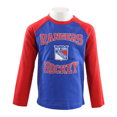 Rangers Morning Skate Long Sleeve Raglan Tee