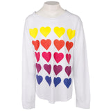 Long Sleeve All Over Hearts Rainbow