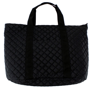 Large Quilted Tote Nylon
