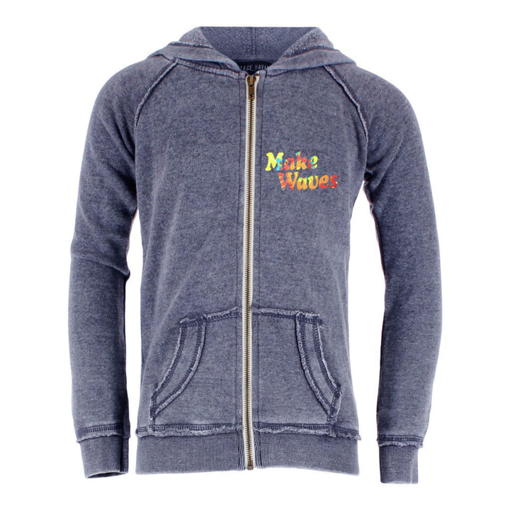 Make Waves Burnout Full Zip Hoodie