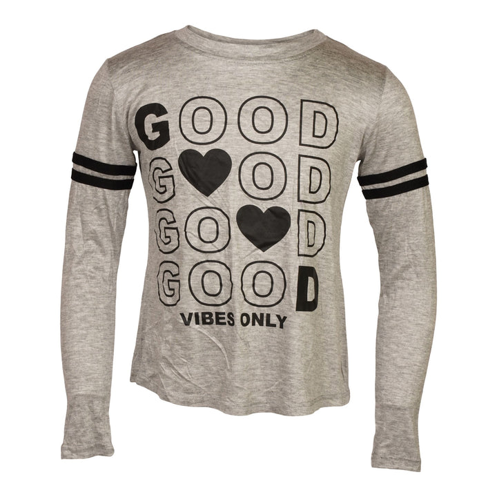 Good Vibes Only Athletic Stripe Shirt