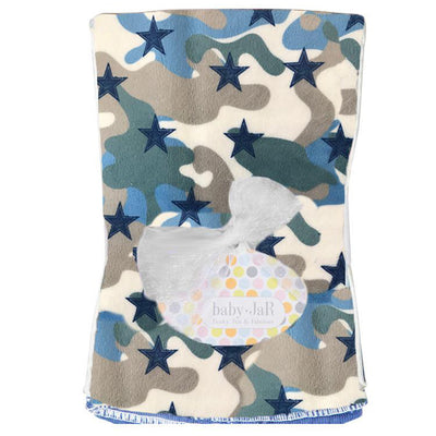 Blue Camo Stars Burp Cloth
