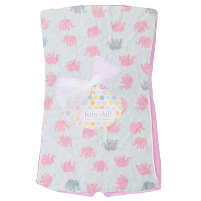 Pink Elephant Burp Cloth