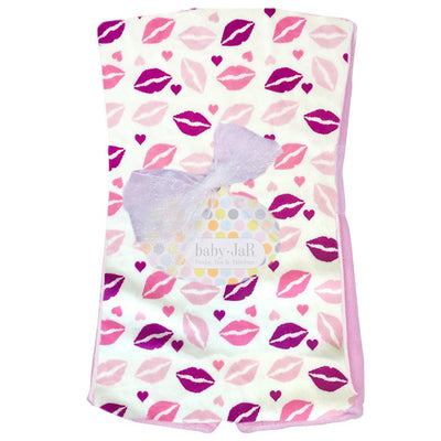 Kisses Burp Cloth