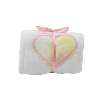 Single Burp Pink Tie-Dye Heart
