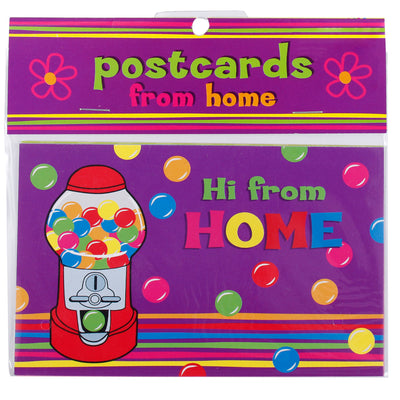 Post Card with Hi From Home Gum Ball