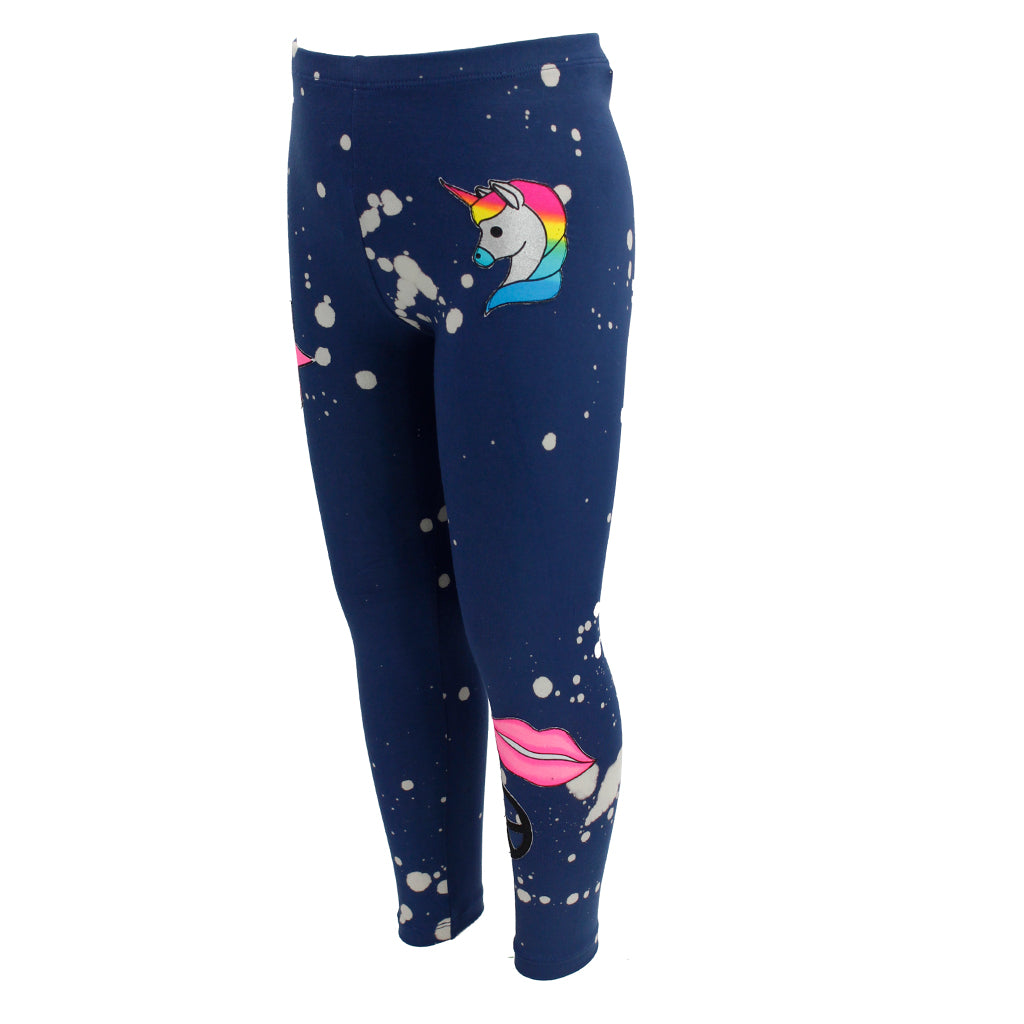 Long Legging Bleach Splatter with Patches