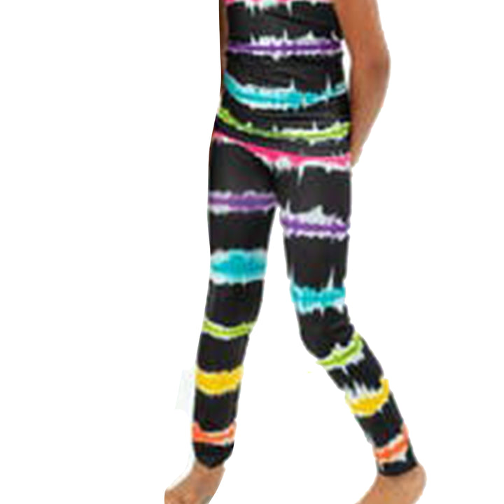Black Stripe Tie Dye Legging